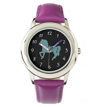 Horses Stainless Steel Watch