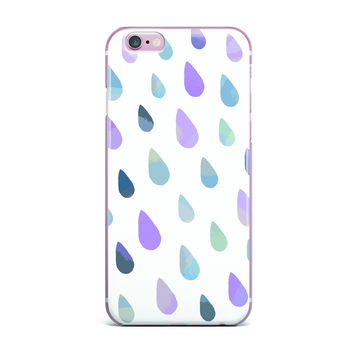 "Daisy Beatrice ""Opal Drops - Mist"" Purple White iPhone Case"