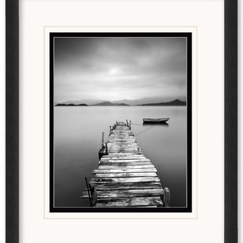 Peaceful Pier Framed Matted Art
