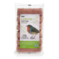 Wilko Suet Logs 6pk with berry
