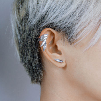 Crystal Wing Ear Cuff Set
