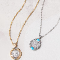 Free People Medallion Stone Necklace