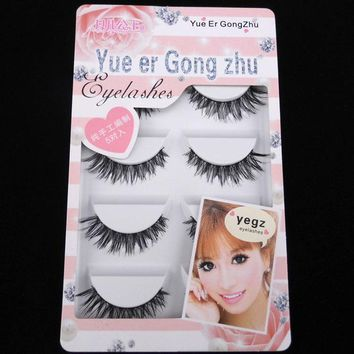 5 Pairs Crisscross Handmade Eye Lashes Makeup Tools Natural Long False Eyelashes For Female Cosmetics Fake Eyelash Extensions