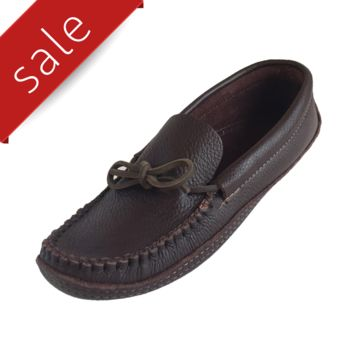 Men's Soft-Sole Cowhide Leather Moccasins - Dark Burgundy 186