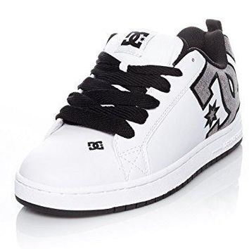 DC Shoes Mens Court Graffik SE Leather Trainers
