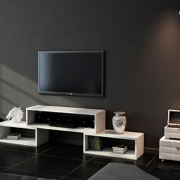 DRIL TV Stand white