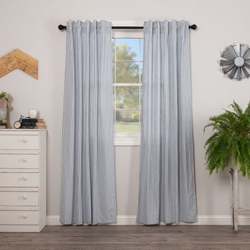 Sawyer Mill Blue Ticking Stripe Panel Curtains