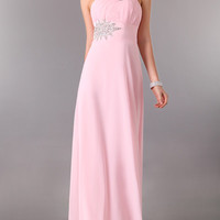 WowDresses — Beautiful A-line One-shoulder Beaded Flowing Chiffon Graduation Dress