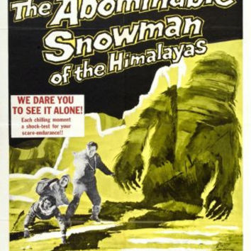 Abominable Snowman The Movie poster 24inx36in Poster