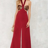 Nasty Gal Come to a Halter Palazzo Pants