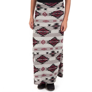 U~Niq Aztec Skirt, Available in Medium & Large, High Fashion, Style, A-Line Maxi, Free Shipping