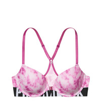 Logo Racerback Lightly Lined Bra - PINK - Victoria's Secret