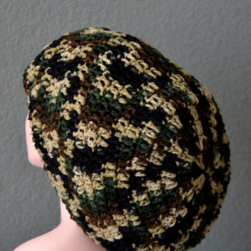 Unisex Crochet Rasta Hat. Dreadlocks Hat. Bob Marley Hat