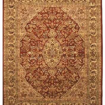 EORC Hand-tufted Wool Rust Traditional Oriental Rust Simba Rug