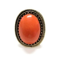 Adjustable Orange Fashion Ring [Jewelry]