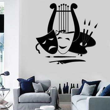 Wall Stickers Vinyl Decal Theatre Arts Music Painting Great Decor Unique Gift (ig1836)
