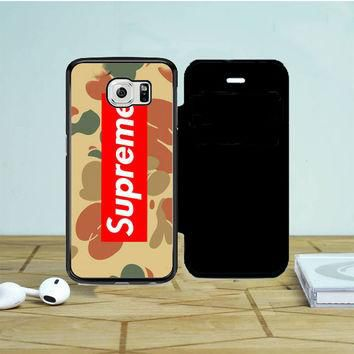 Supreme Camo Horizontal Samsung Galaxy S6 Edge Flip Case | Tegalega