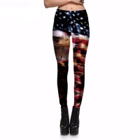 Eagle and American Flag Leggings