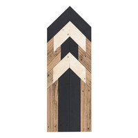 Black and Gold Reclaimed Wood Arrow Wall Art