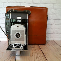 Vintage Polaroid Land Camera Model 150 Folding Camera With Case