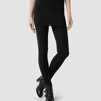 Womens Raffi Leggings (Black) | ALLSAINTS.com