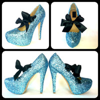 Calypso Glitter Pumps by ChelsieDeyDesigns on Etsy
