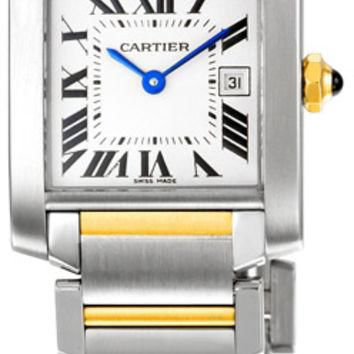 Cartier Tank Francaise Ladies Swiss Quartz Watch W51012Q4