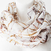 Autumn Sunset Loop Circle Scarf by WhiteMoth