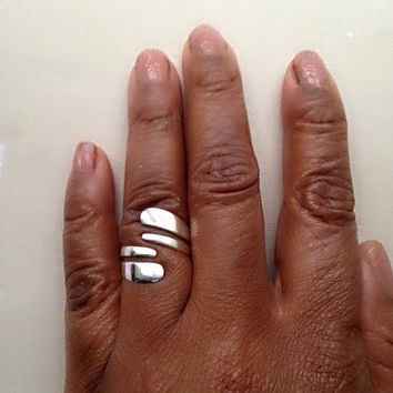 Sterling Silver Ring, Silver Spiral Ring, Silver Boho Ring, 925 Silver Ring, Boho Jewelry, Statement Ring