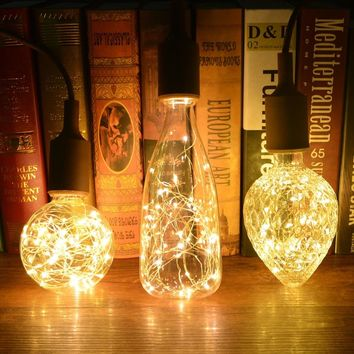 Creative  Edison Light Bulb Vintage Decoration LED Filament lamp Copper Wire String E27 110V 220V Replace Incandescent Bulbs