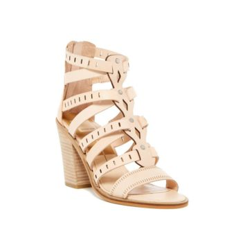 Dolce Vita Women's Lain Block Heel Sandal in Natural Leather