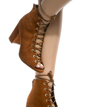 Mocha Faux Suede Chunky Lace Up Booties @ Cicihot. Booties spell style, so if you want to show what you're made of, pick up a pair. Have fun experimenting with all we have to offer!