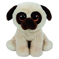 """Pyoopeo Ty Beanie Babies 6"""" 15cm Rufus the Pug Dog Plush Stuffed Doll Toy Collectible Big Eyes Puppy Dolls Toys"""
