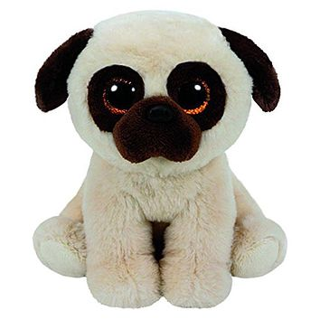 "Pyoopeo Ty Beanie Babies 6"" 15cm Rufus the Pug Dog Plush Stuffed Doll Toy Collectible Big Eyes Puppy Dolls Toys"