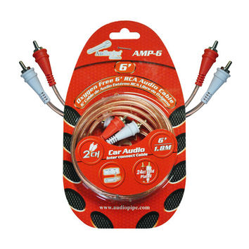 RCA CABLE 6' AUDIOPIPE OFC CLEAR INSTALLER SERIES