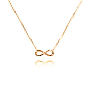 Infinity Necklace, 14k Rose Gold