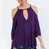 Silence + Noise Sofia Cold Shoulder Top