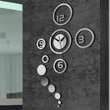 New Arrival 3D Home Modern Decoration Crystal Mirror wall sticker