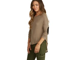 Midnight Spark Taupe Dolman Top