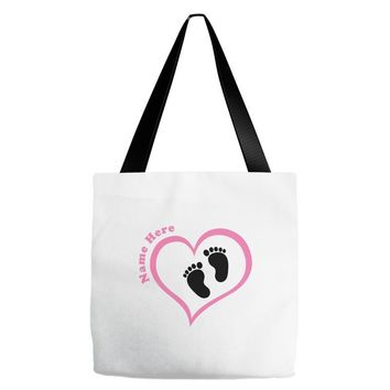 Custom baby girl name maternity design Tote Bags