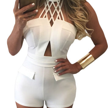 Choker Crop Top and High Waist Short Set