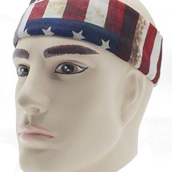 Bandana USA Flag Headband Apparel Bandanas