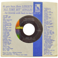 Vintage 60s Bobby Vee The Night Has a Thousand Eyes 45 RPM Single Record