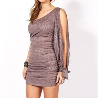 Nataly-Taupe Prom Dress