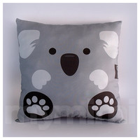 "12 x 12"" Pillow, Koala Bear Animal Pillow, Stuffed Animal, Room Decor, Kids Room Decor, Children's Pillow, Kids Toys, Grey Pillow"