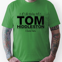 "Tom Hiddleston - ""If I Die"" Series (Black) Unisex T-Shirt"