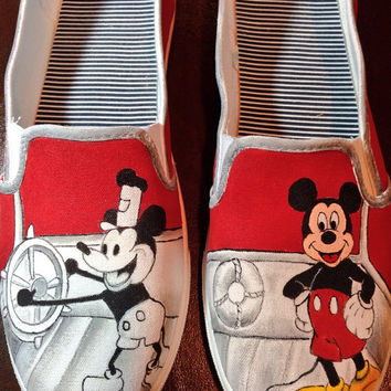 Custom Hand Painted Shoes - Mickey Mouse