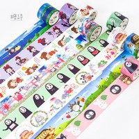 Cute Kawaii Japanese Cartoon Characters Decorative Adhesive Tape Washi Tape DIY Scrapbooking Masking Tape School Office Supply