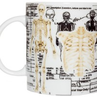 Sourpuss Clothing Skeleton Mug White One