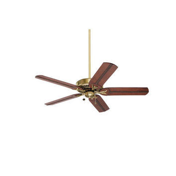 Emerson Fans BKIT-CF4801AB-B105HCB Premium Select Antique Brass 54-Inch Ceiling Fan with Beaded Hand Carved Wood Blades